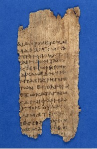 L0005847EA Papyrus text: fragment of Hippocratic oath. Credit: Wellcome Library, London. Wellcome Images images@wellcome.ac.uk http://wellcomeimages.org Papyrus text: fragment of Hippocratic oath: verso, showing oath. 3rd century MS. 5754 Oxyrhynchus Papyrus 2547 Published: - Copyrighted work available under Creative Commons Attribution only licence CC BY 4.0 http://creativecommons.org/licenses/by/4.0/