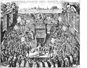 図7 ライデンの解剖劇場(版画)