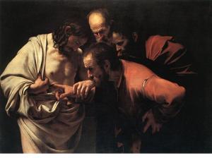 図10 カラヴァッジオ『聖トマスの懐疑』(1603)