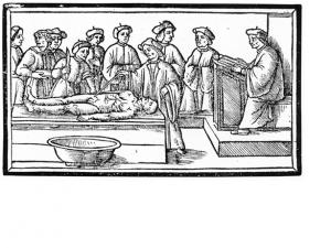 図3 Jacopo Berengario da Carpi, Anatomia (Venice, 1535) 表紙より
