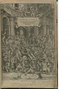 図4 ヴェサリウス『人体構造論』(1543) 表紙絵より
